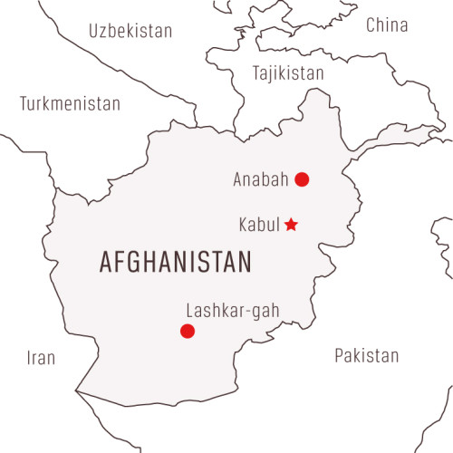 Map of EMERGENCY's Projects in Afghanistan